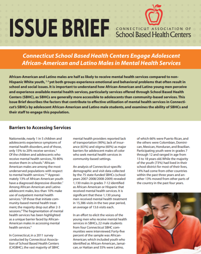 Grantee Publication Connecticut School Based Health Centers Engage