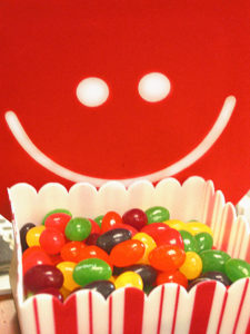 I detest football. So instead here's a picture of my beloved Starburst jelly beans giving me happy signals.