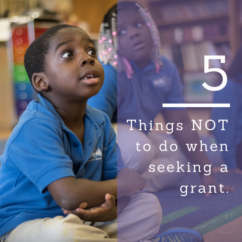 5 things NOT to do when seeking a grant | Connecticut Health Foundation
