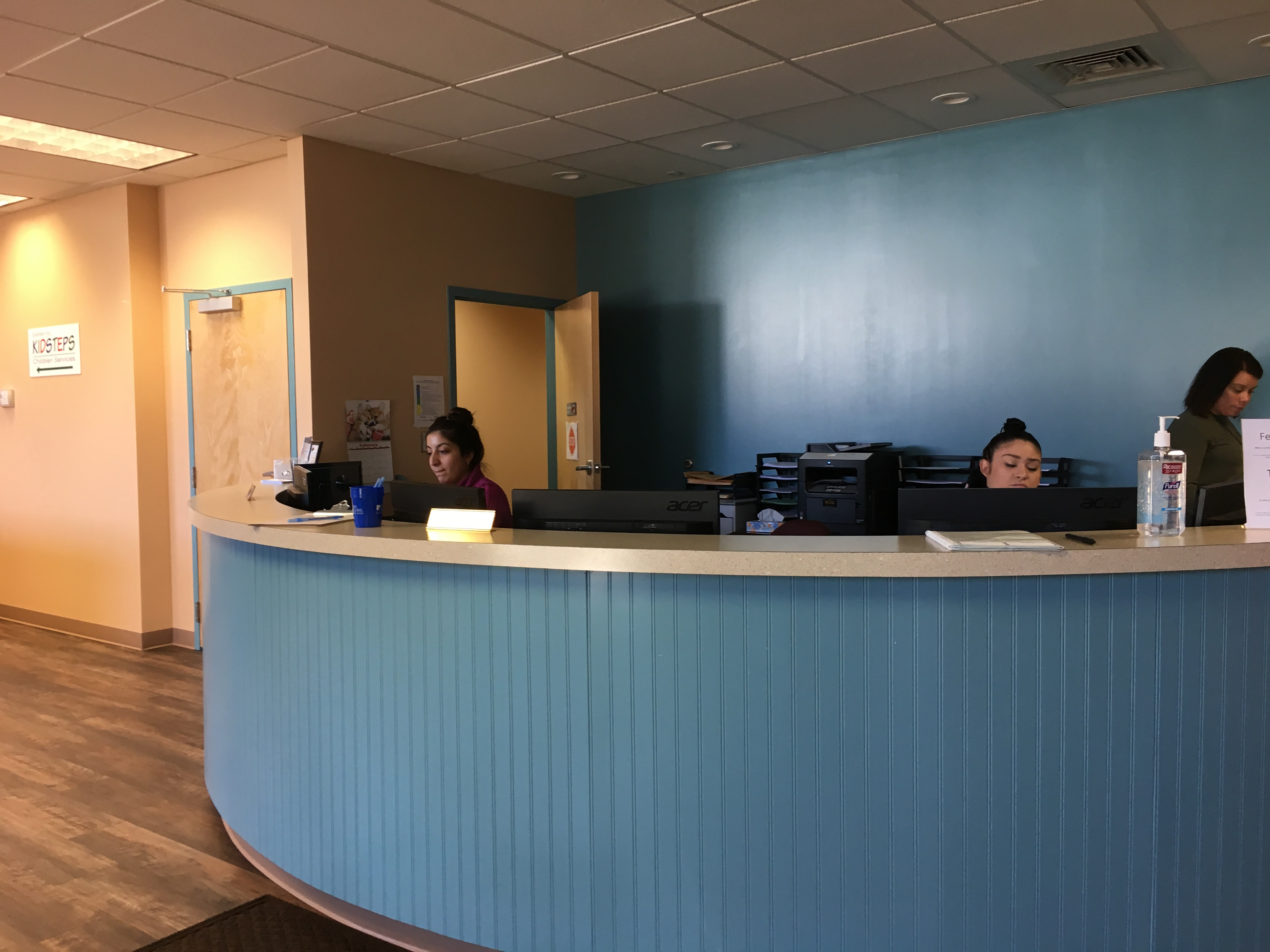 The front desk at Marne Street Clinic, where receptionists can be on the phone for hours talking to families trying to find the right services for their children with special needs.