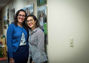 This is a photo of Jacqueline Sanchez (right) and Program Supervisor Giselle Carlotta-McDonald